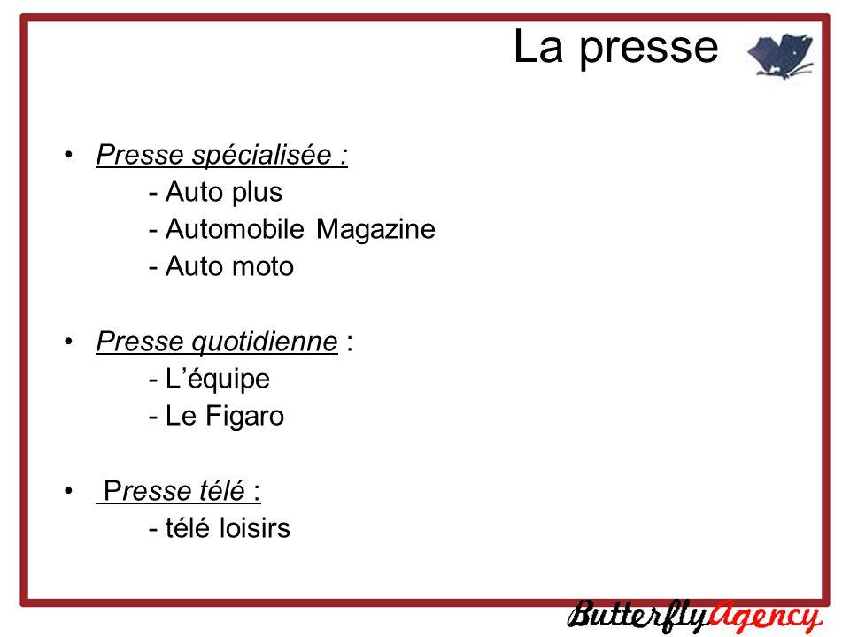 La presse Presse spécialisée : - Auto plus - Automobile Magazine