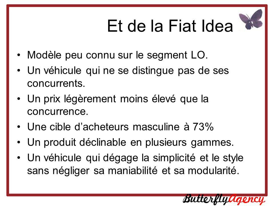 Et de la Fiat Idea Modèle peu connu sur le segment LO.