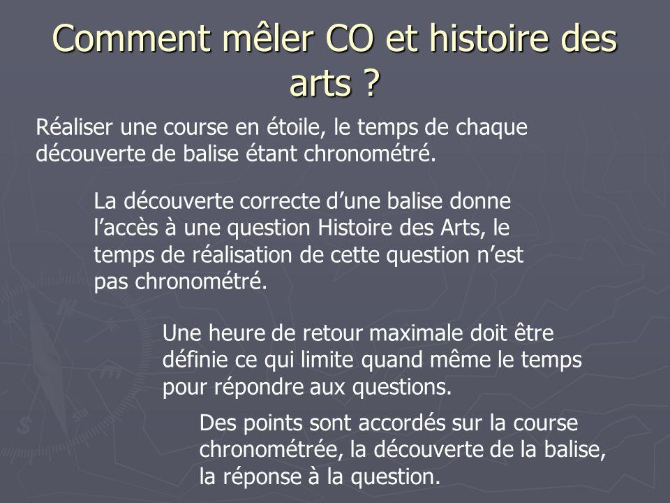 Comment mêler CO et histoire des arts