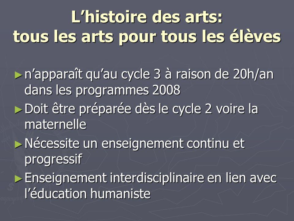 L'histoire des arts: tous les arts pour tous les élèves