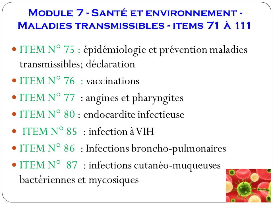 ITEM N° 77 : angines et pharyngites