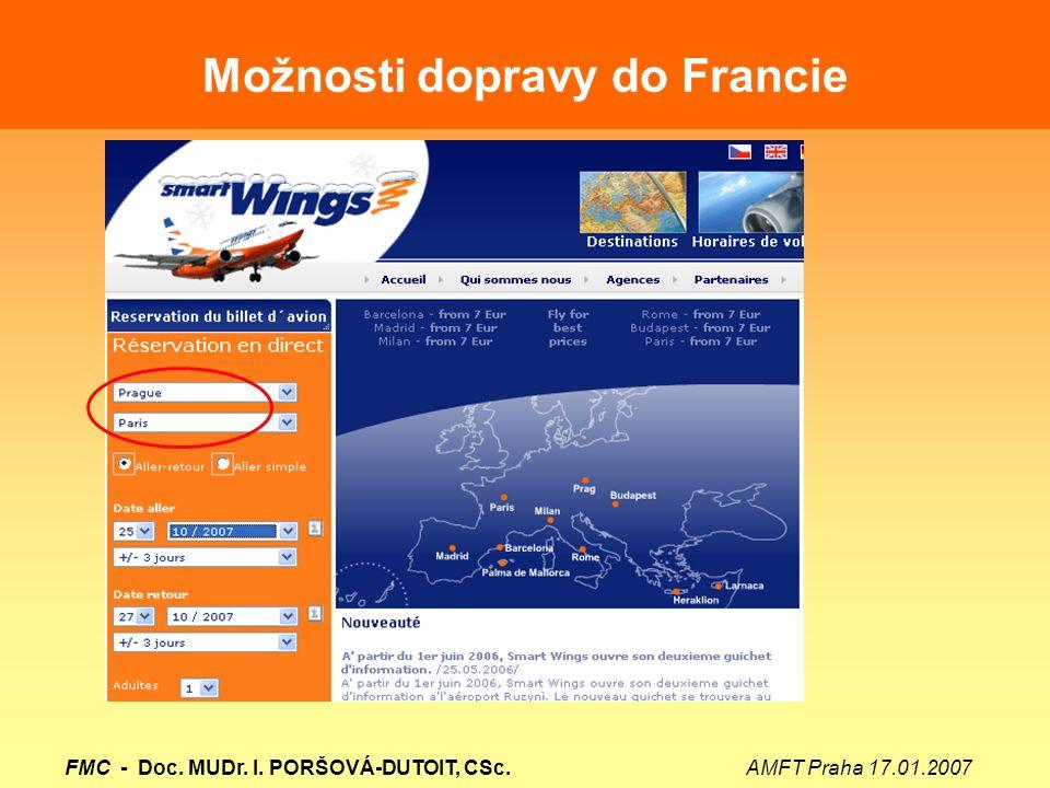 Možnosti dopravy do Francie