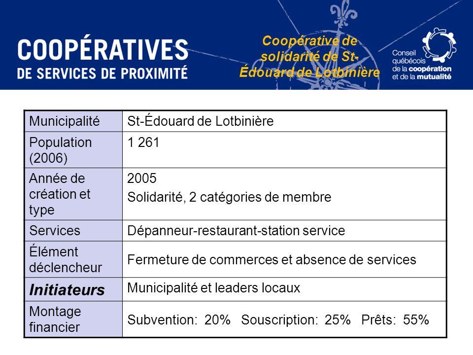 Coopérative de solidarité de St-Édouard de Lotbinière