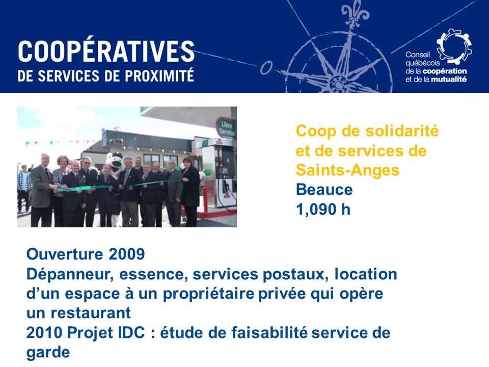 Coop de solidarité et de services de Saints-Anges