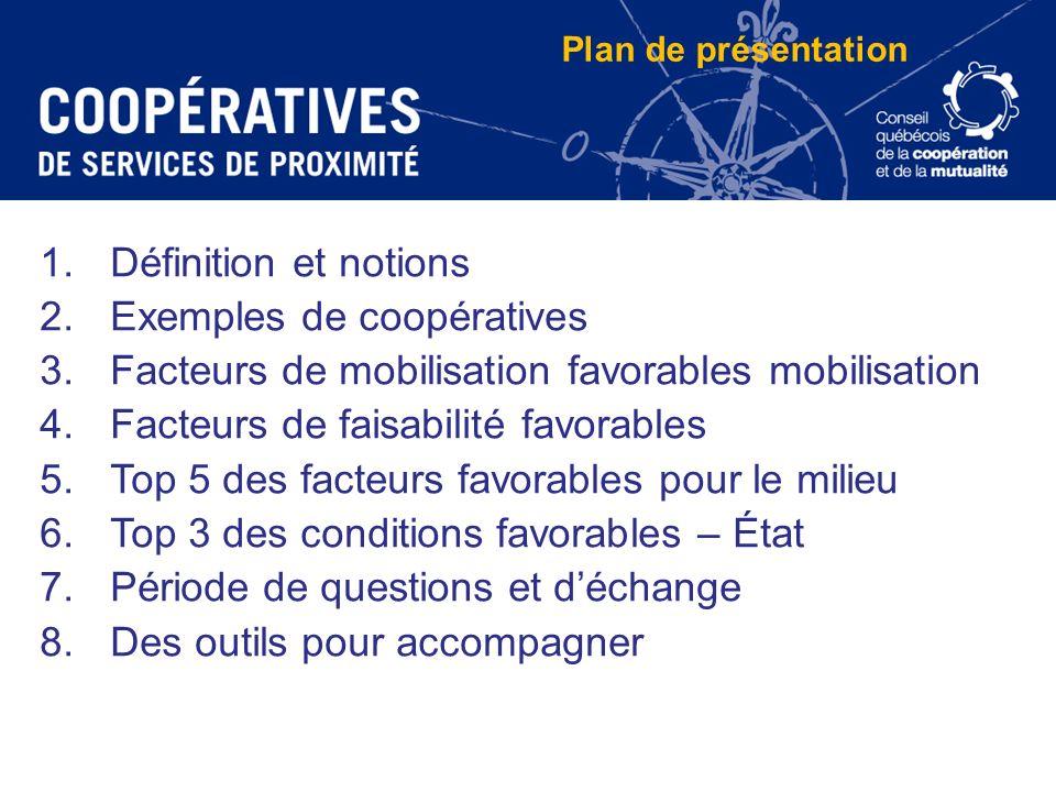 Exemples de coopératives