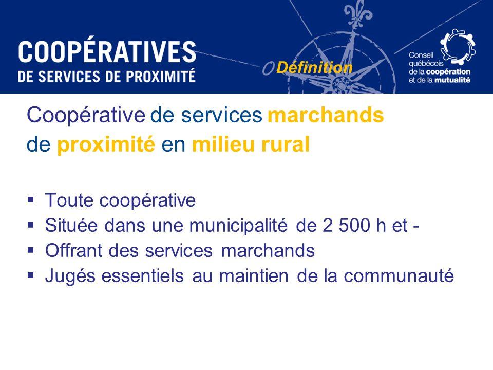 Coopérative de services marchands de proximité en milieu rural