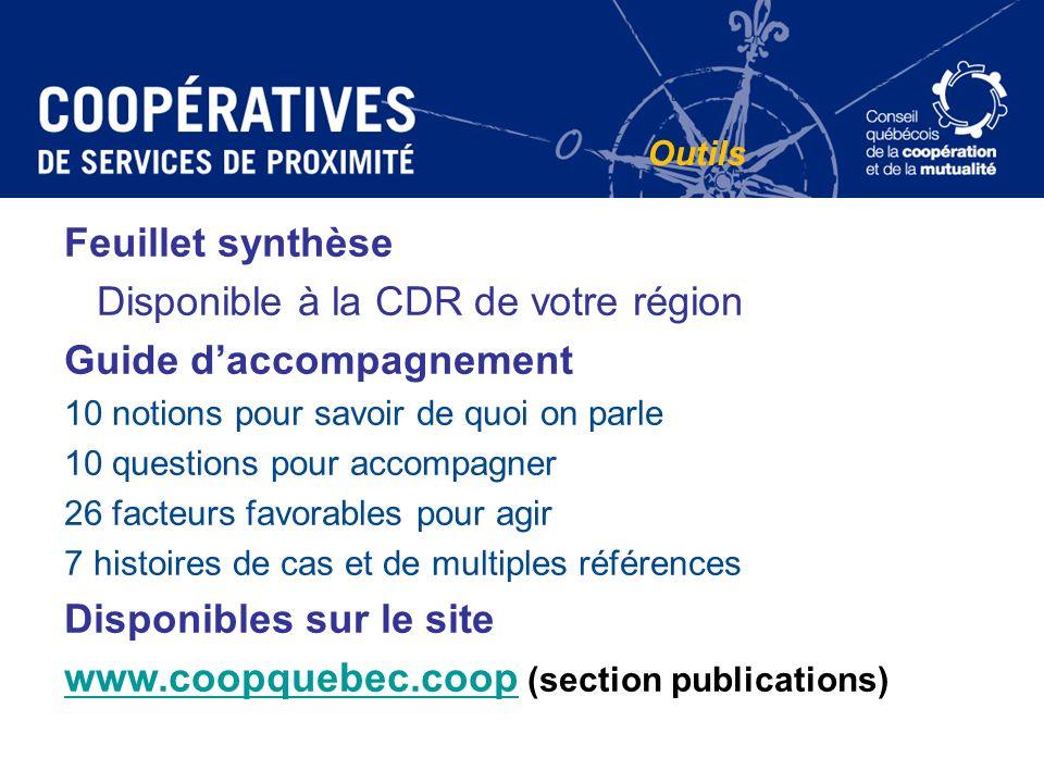 Disponible à la CDR de votre région Guide d'accompagnement