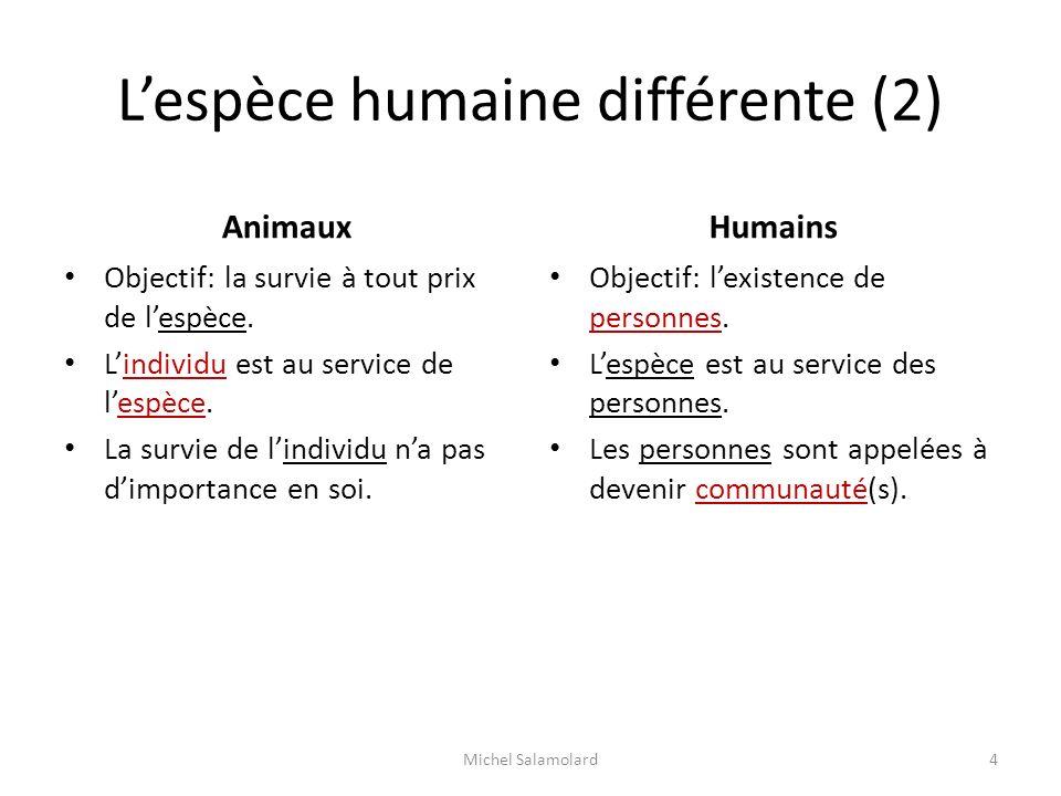 L'espèce humaine différente (2)