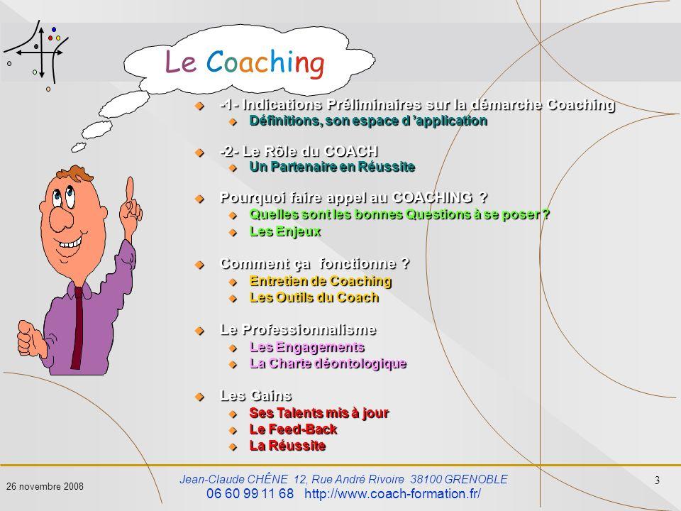 -1- Indications Préliminaires sur la démarche Coaching