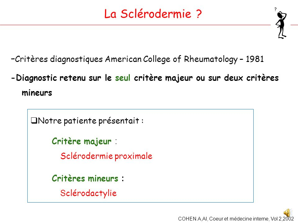 -Critères diagnostiques American College of Rheumatology – 1981