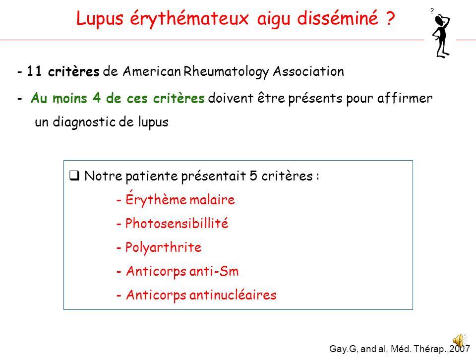 Lupus érythémateux aigu disséminé