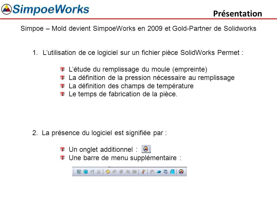 Présentation Simpoe – Mold devient SimpoeWorks en 2009 et Gold-Partner de Solidworks.