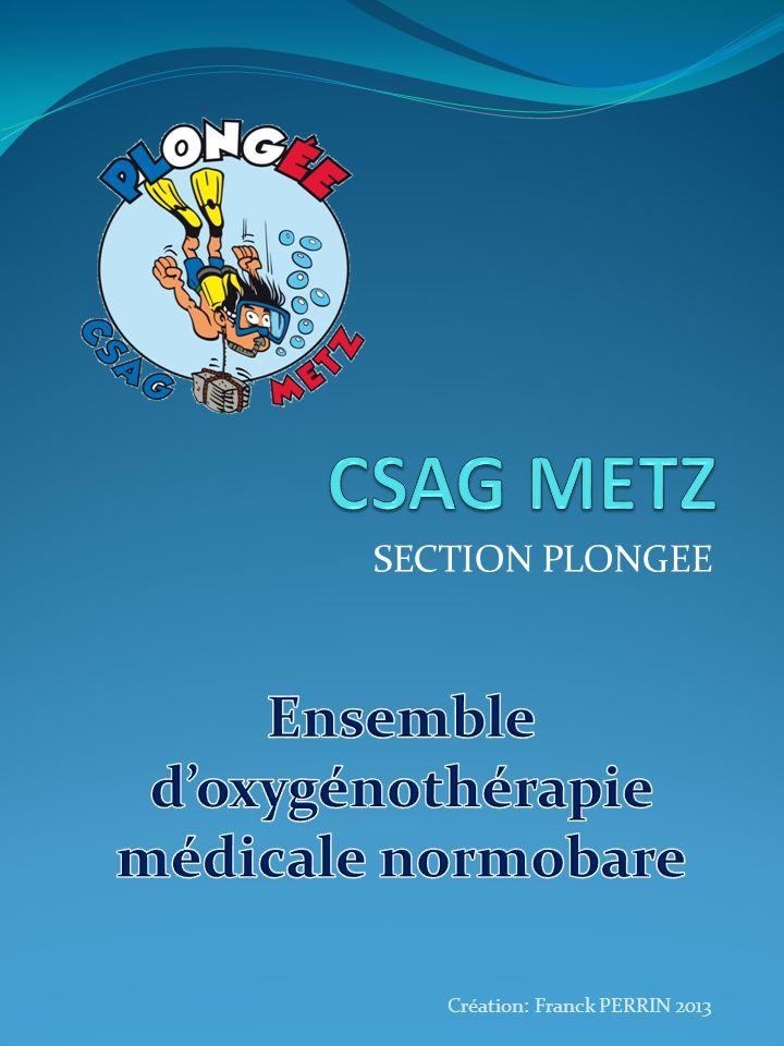 Ensemble d'oxygénothérapie médicale normobare