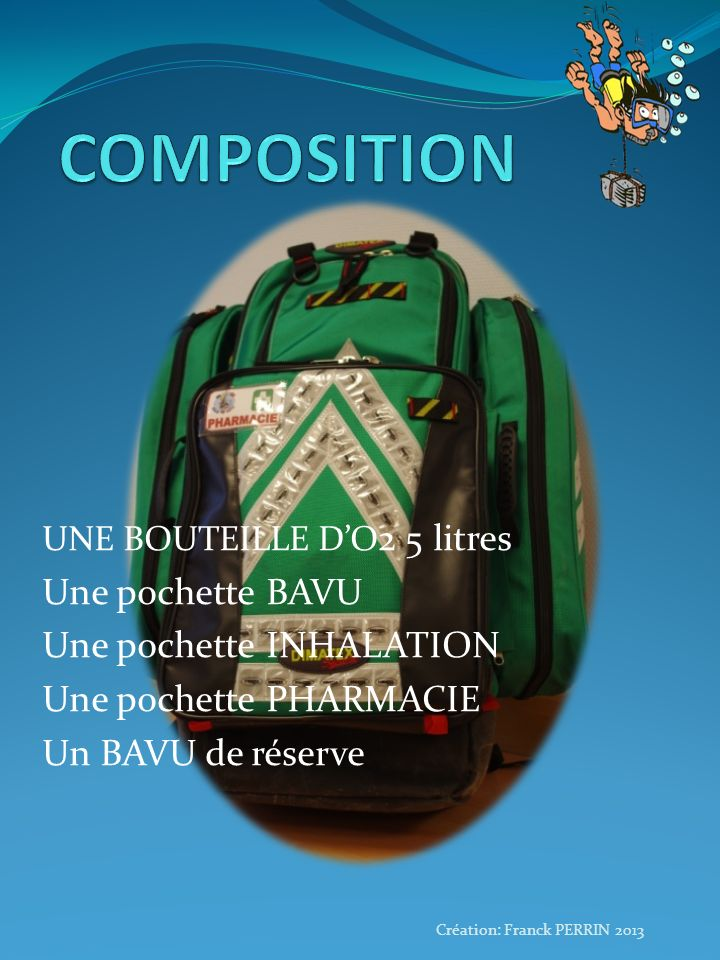 COMPOSITION Une pochette BAVU Une pochette INHALATION