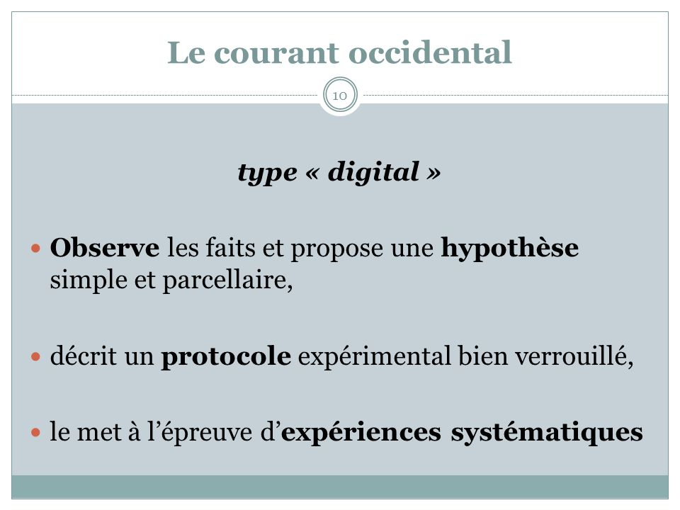 Le courant occidental type « digital »