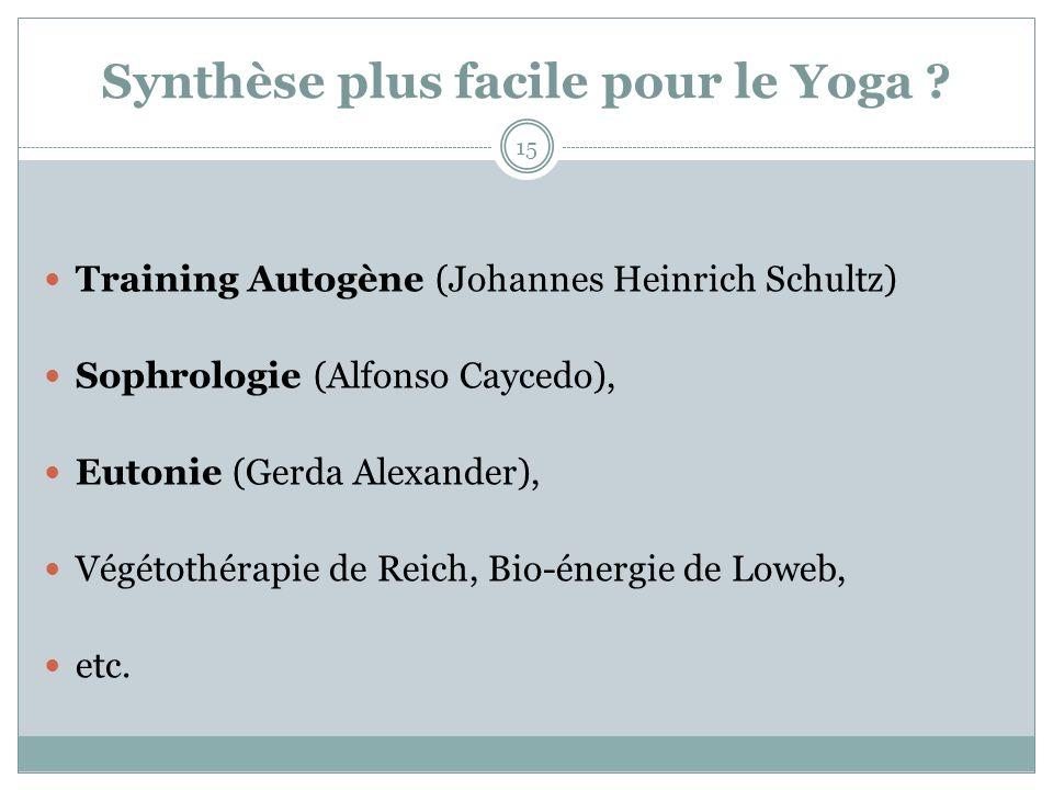 Synthèse plus facile pour le Yoga
