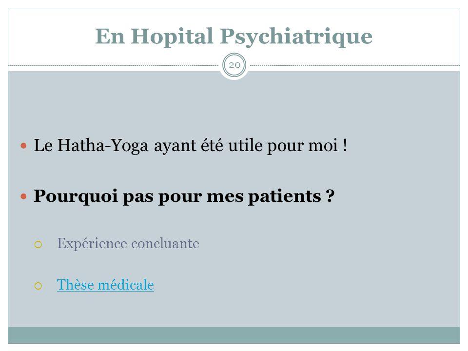 En Hopital Psychiatrique