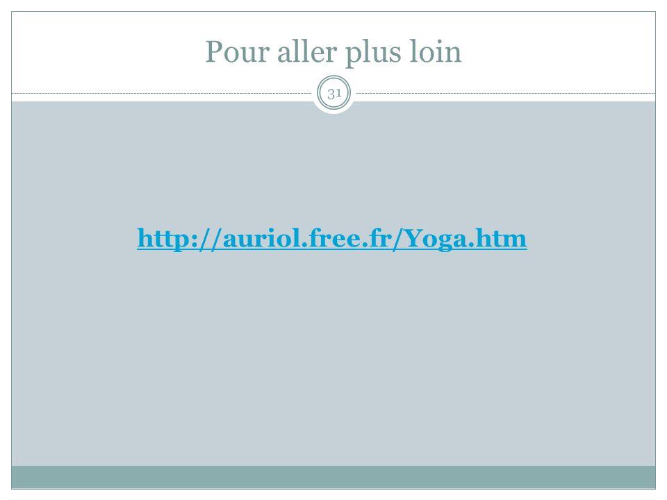 Pour aller plus loin http://auriol.free.fr/Yoga.htm