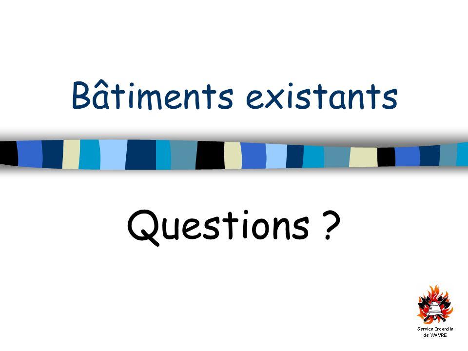 Bâtiments existants Questions