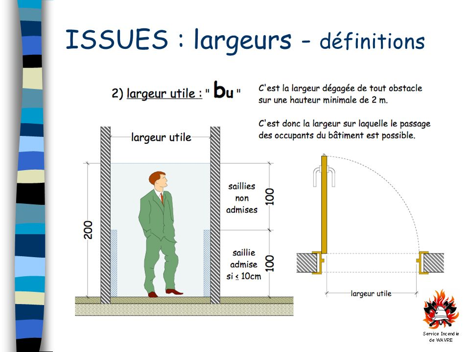 ISSUES : largeurs - définitions