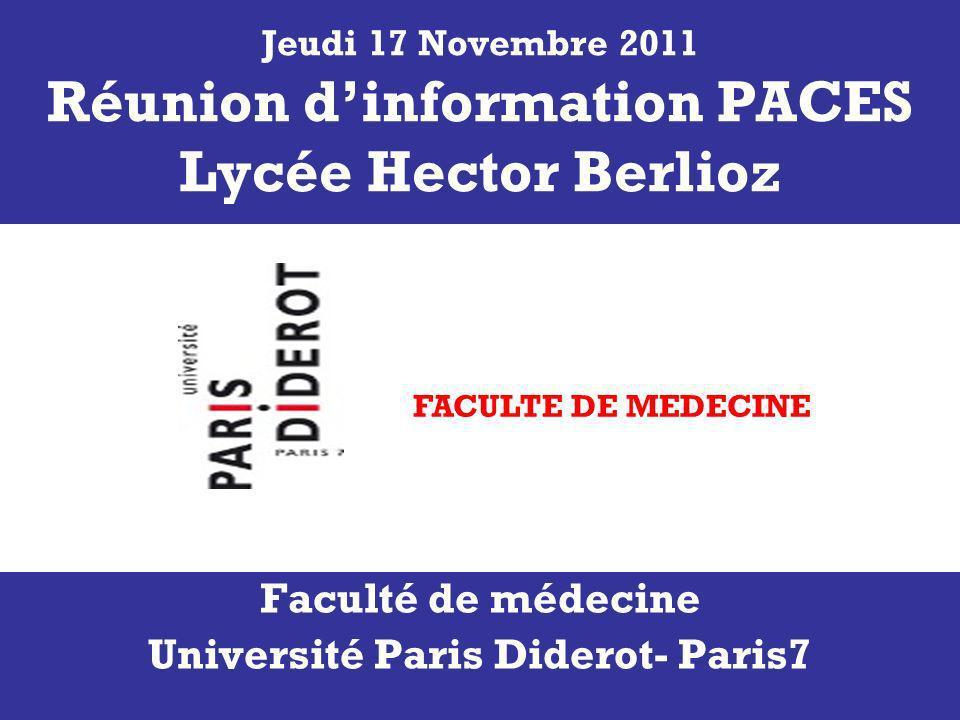 Faculté de médecine Université Paris Diderot- Paris7