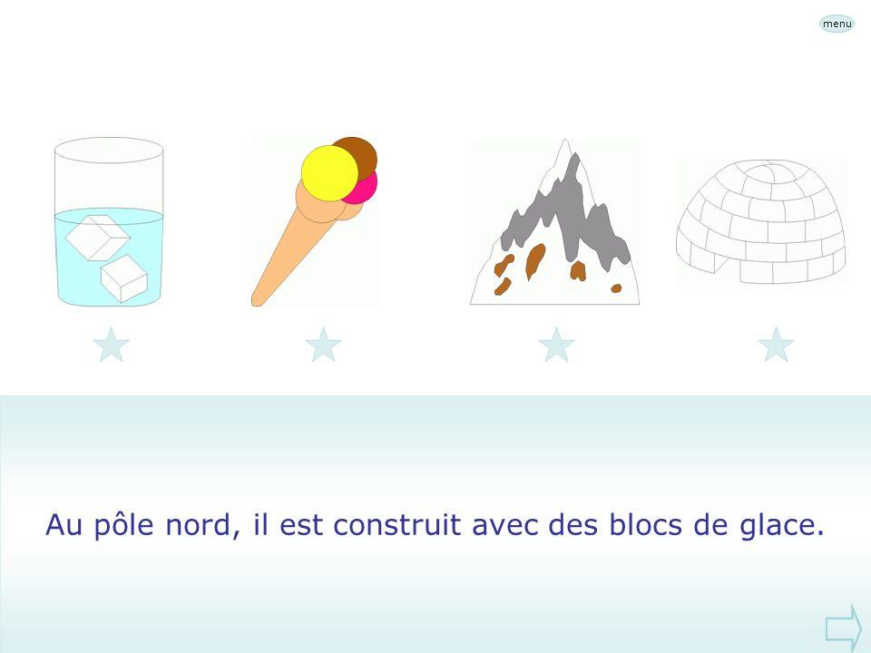 Au pôle nord, il est construit avec des blocs de glace.