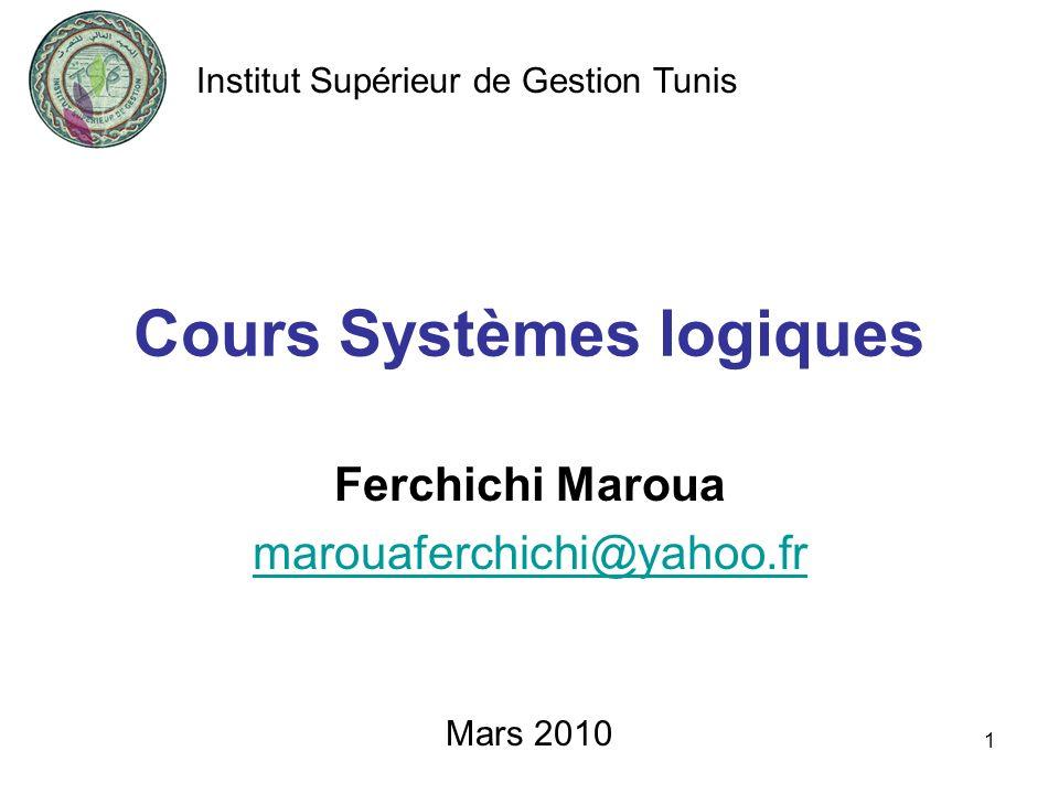 Cours Systèmes logiques