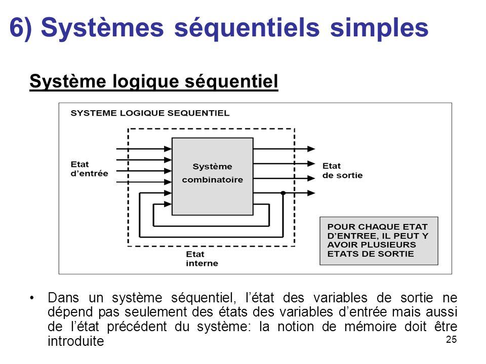 6) Systèmes séquentiels simples