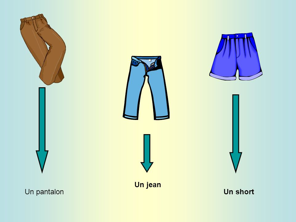 Un jean Un pantalon Un short