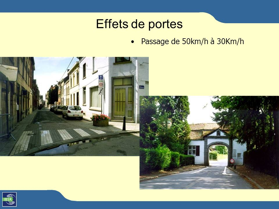 Effets de portes Passage de 50km/h à 30Km/h