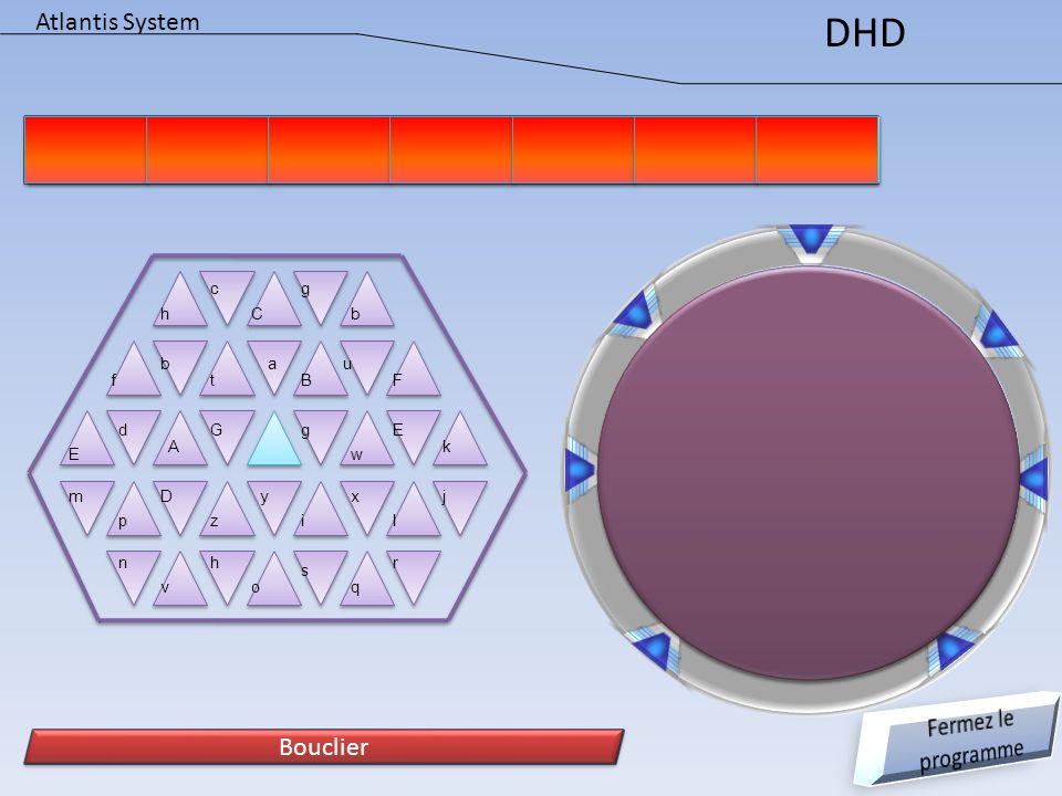 DHD Atlantis System Fermez le programme Bouclier Bouclier c g h C b b