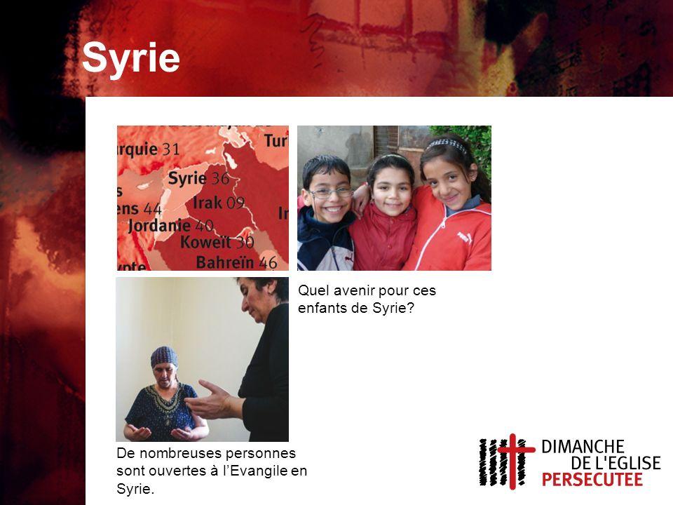 Syrie Quel avenir pour ces enfants de Syrie