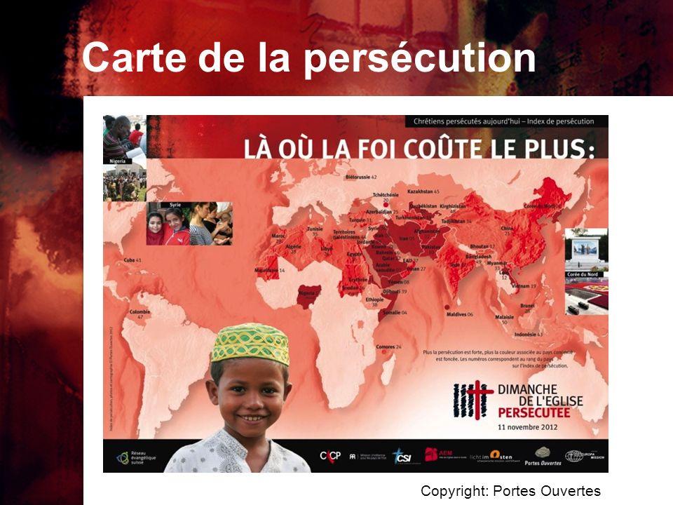 Carte de la persécution