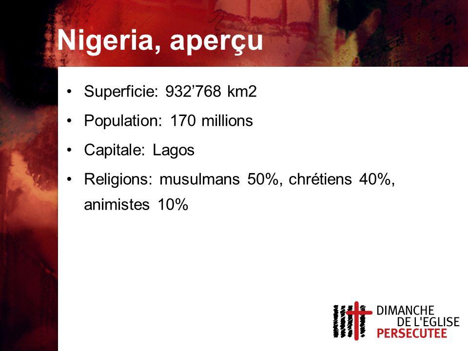 Nigeria, aperçu Superficie: 932'768 km2 Population: 170 millions