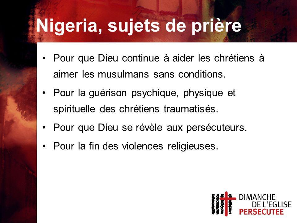 Nigeria, sujets de prière