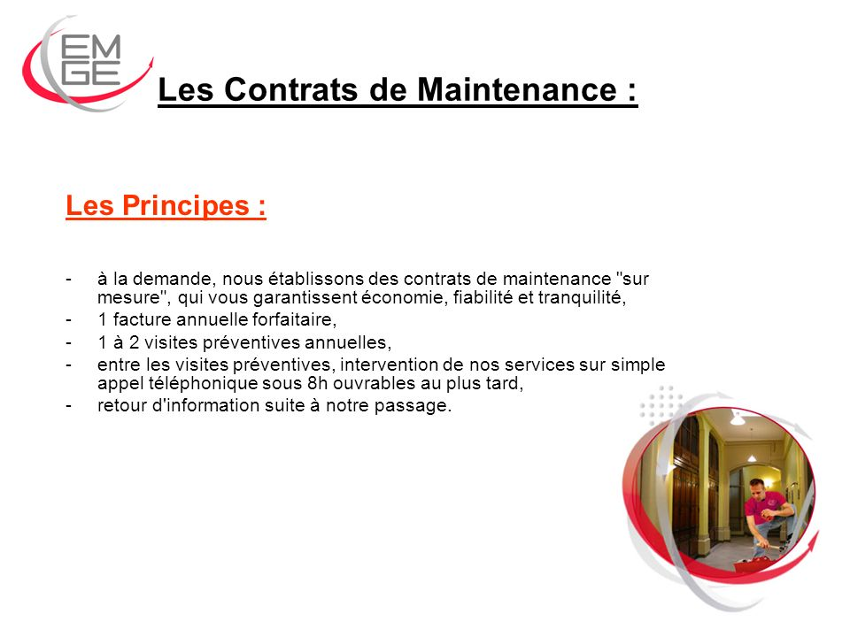 Les Contrats de Maintenance :