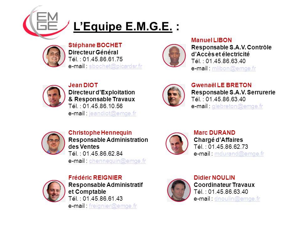 L'Equipe E.M.G.E. : Manuel LIBON