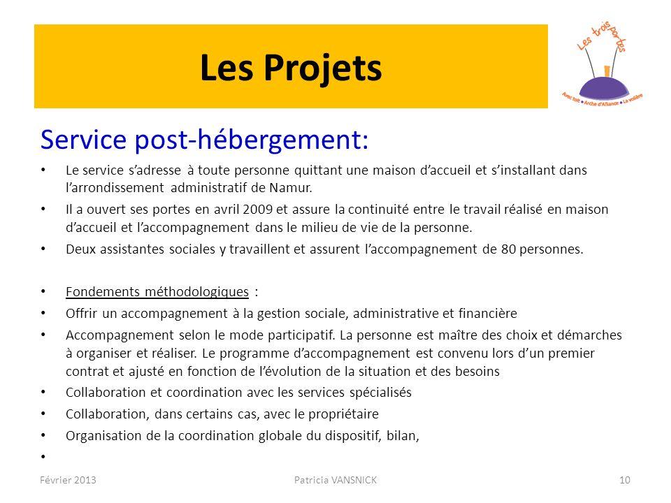 Les Projets Service post-hébergement: