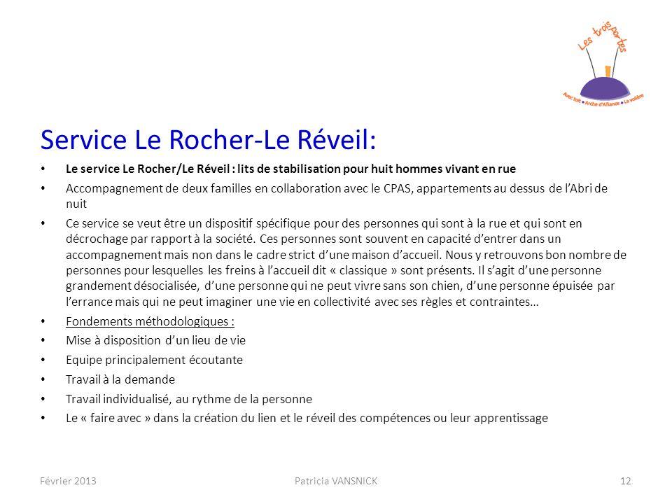 Service Le Rocher-Le Réveil: