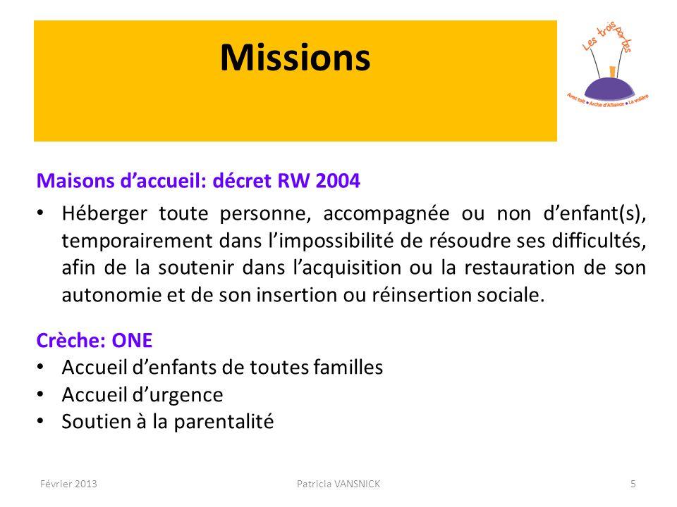 Missions Maisons d'accueil: décret RW 2004
