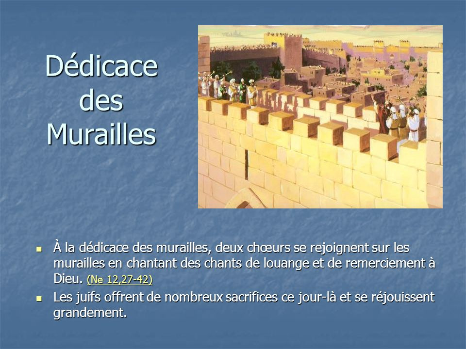Dédicace des Murailles