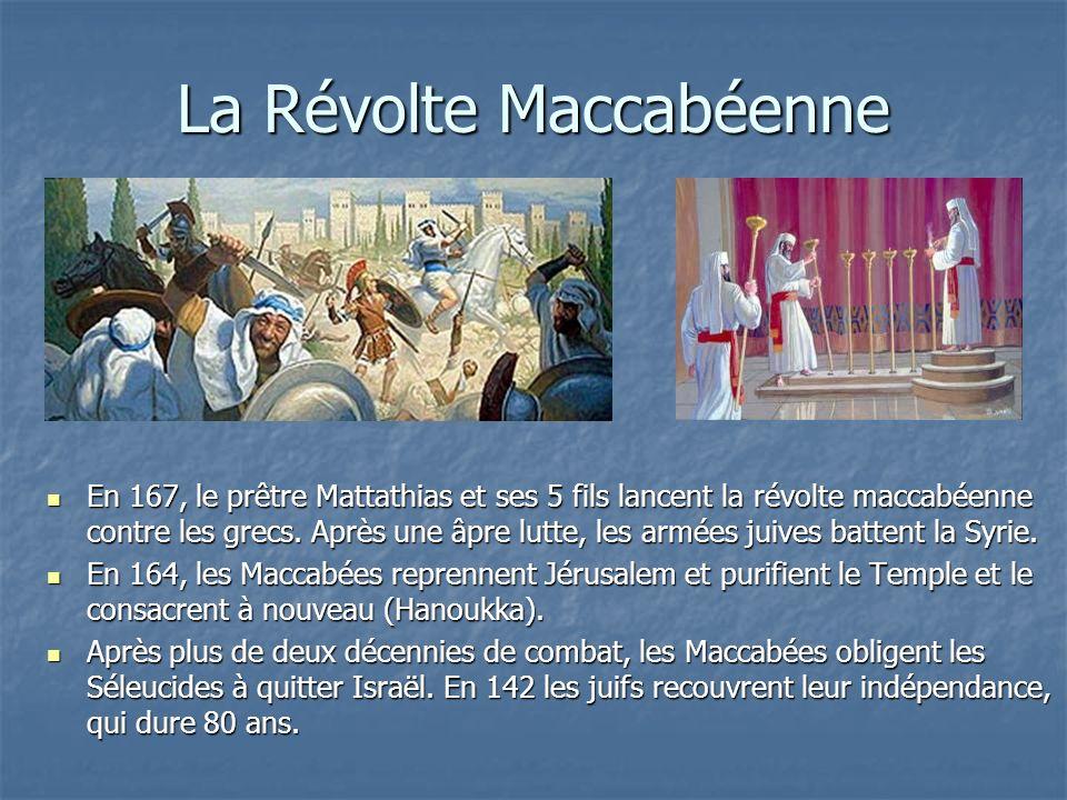 La Révolte Maccabéenne