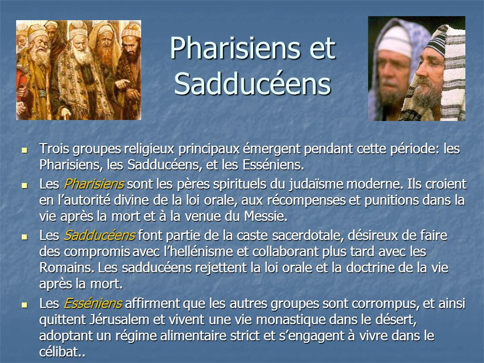 Pharisiens et Sadducéens