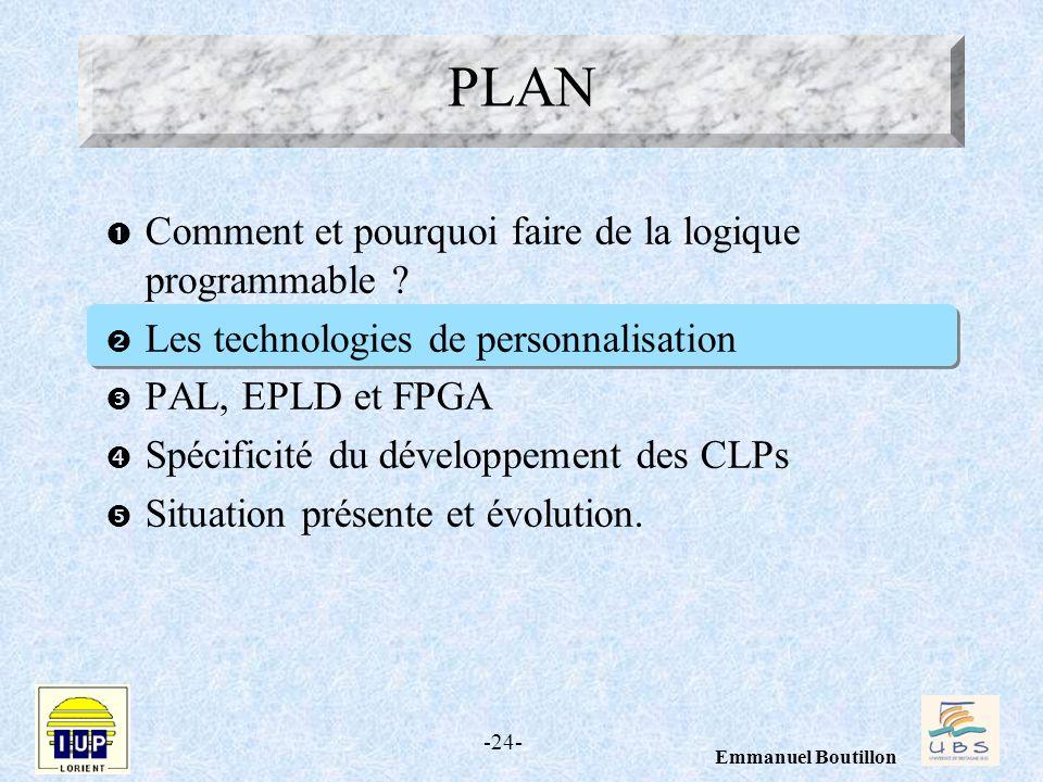 PLAN Comment et pourquoi faire de la logique programmable