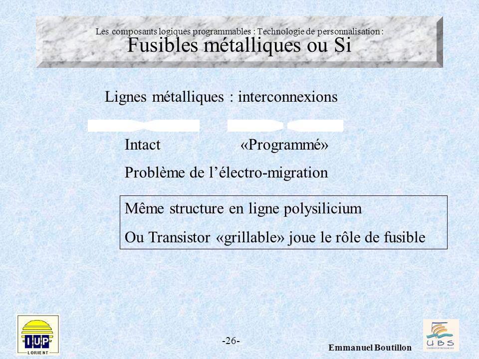 Lignes métalliques : interconnexions