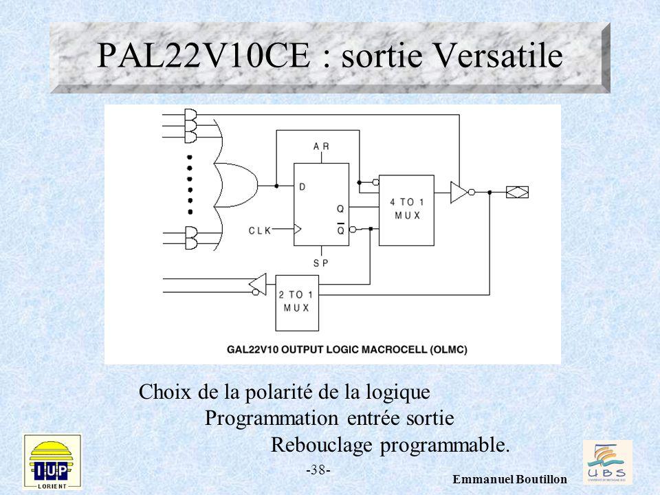 PAL22V10CE : sortie Versatile