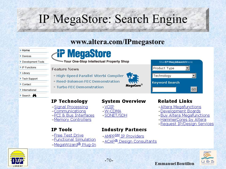 IP MegaStore: Search Engine