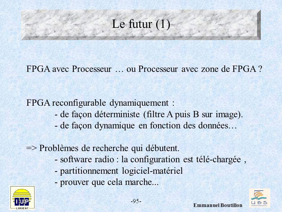 Le futur (1) FPGA avec Processeur … ou Processeur avec zone de FPGA