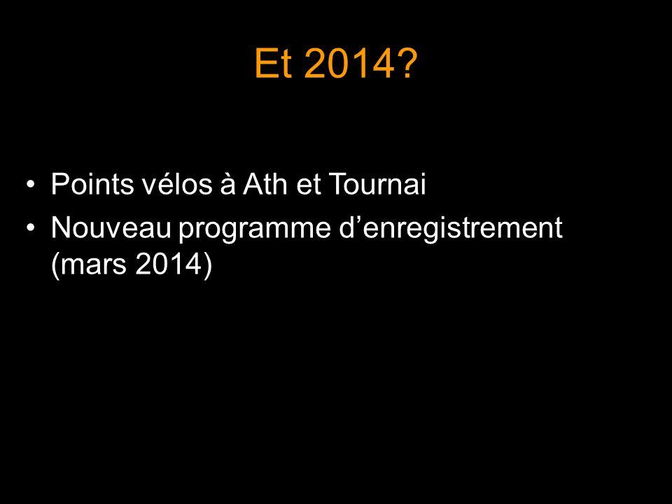 Et 2014 Points vélos à Ath et Tournai