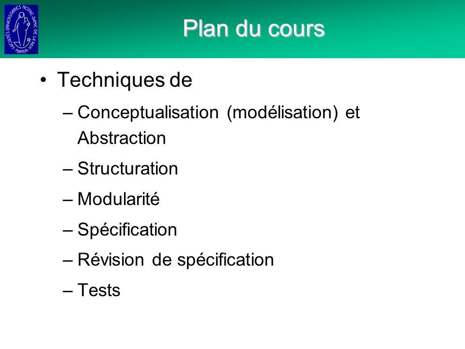 Plan du cours Techniques de